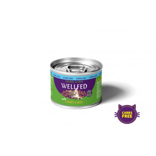 YOUNG STERILIZED TURKEY & BEEF WET FOOD (6 - 24 μηνών) 200gr