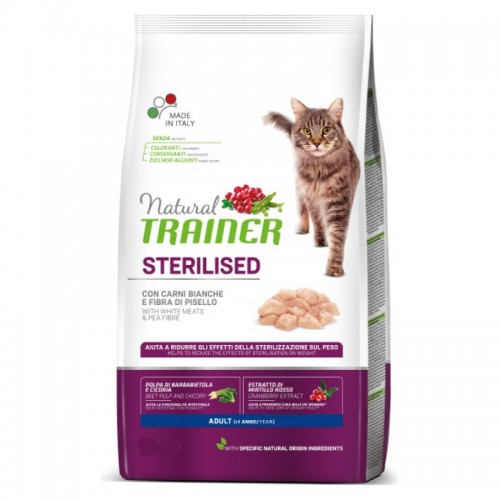 NATURAL TRAINER CAT ADULT STERILIZED ΛΕΥΚΑ ΚΡΕΑΤΑ 1,5KG