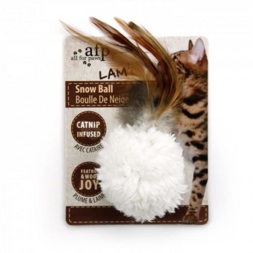 AFP CAT TOY SNOW BALL ME CATNIP