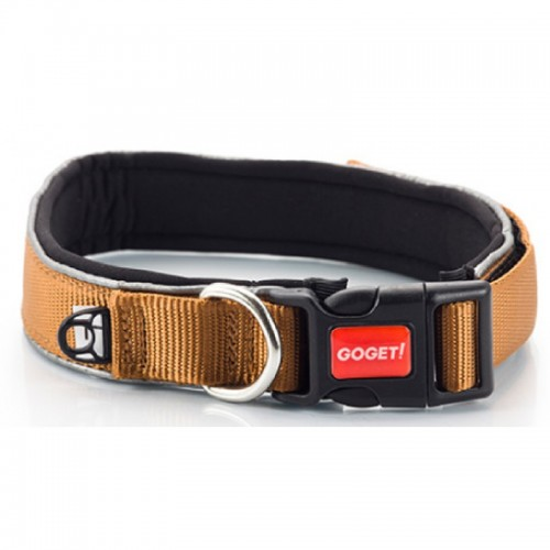 GOGET SOFT NEON COLLAR COFFEE SMALL 1,5X35-40CM