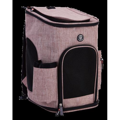 Τσάντα μεταφοράς πλάτης FOFOS Σκύλου Γάτας  Ροζ 42x28x28cm
