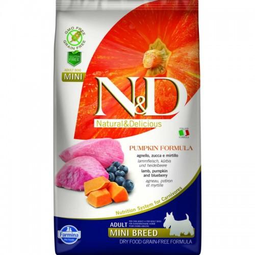 N & D GRAIN FREE PUMPKIN LAMB & BLUEBERRY ADULT MINI 2,5KG