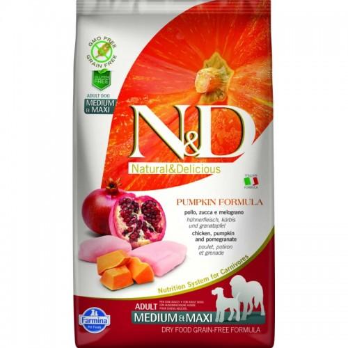 N & D GRAIN FREE PUMPKIN CHICKEN & POMEGRANATE ADULT MEDIUM & MAXI 2,5KG