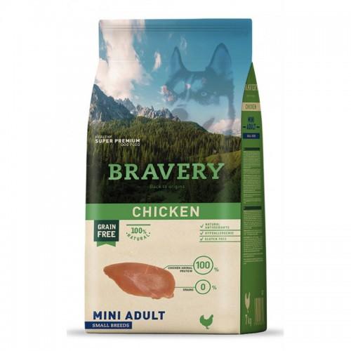 BRAVERY GRAIN FREE ADULT MINI CHICKEN DOG 2KG