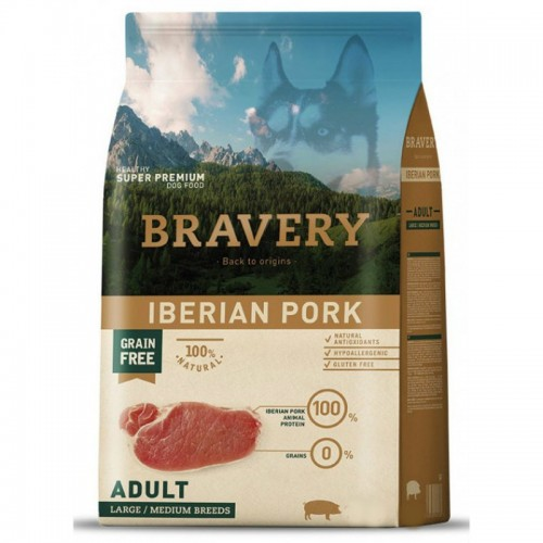 BRAVERY GRAIN FREE ADULT MEDIUM - LARGE IBERIKO (ΑΓΡΙΟΧΟΙΡΟΣ) DOG 4KG