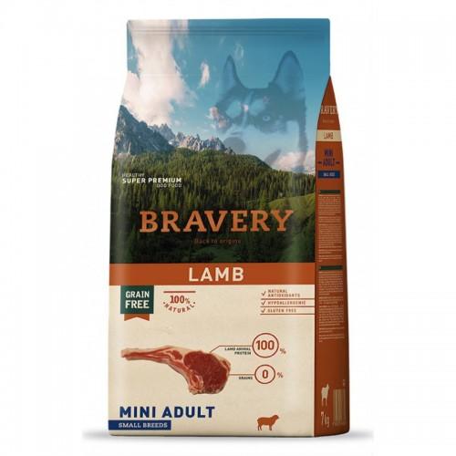 BRAVERY GRAIN FREE ADULT MINI LAMB (ΑΡΝΙ) DOG 2KG