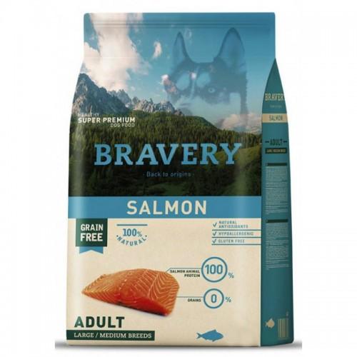 BRAVERY GRAIN FREE ADULT MEDIUM - LARGE SALMON DOG 4KG