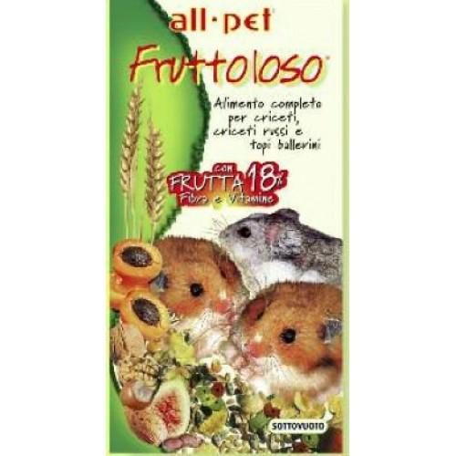 Τροφή για χάμστερ κι ινδικά χοιρίδια Fruttoloso All Pet