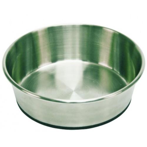 Πιάτο INOX γαβάθα με Αντιολισθητική  βάση 13cm